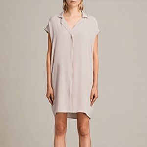 All saints via dress in nude pink